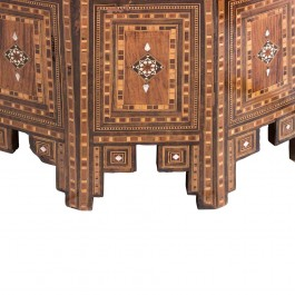 An old polygonal mother of pearl inlaid table  ;50;73;;; - FLORAL  $i