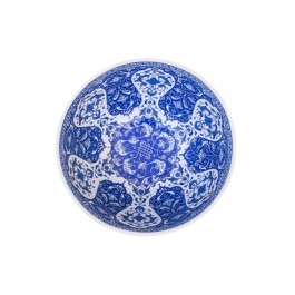 Basin on foot with leaves and floral pattern ;25;43;;; - BLUE & WHITE  $i