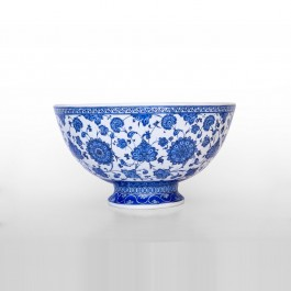 FLORAL Basin on foot with leaves and floral pattern ;25;43;;;