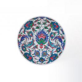 Basin on high foot saz leaves and floral pattern ;22;38 - ARTIST Saim Kolhan  $i
