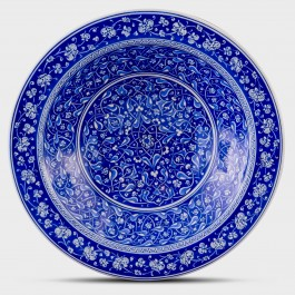 BLUE & WHITE Blue and white deep plate with floral pattern ;;40;;;