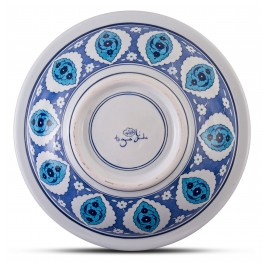 Blue and white deep plate with Rumi pattern ;;40;;; - FLORAL  $i