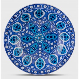 BLUE & WHITE Blue and white deep plate with Rumi pattern ;;40;;;