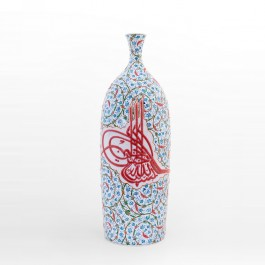 ARTIST Saim Kolhan Bottle with contemporary tugrakesh pattern and tughra ;60;24