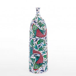 ARTIST Saim Kolhan Bottle with fishes ;65;20
