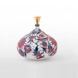 DECORATIVE ITEM & OBJECTS Bottle with floral pattern ;35;34;;;