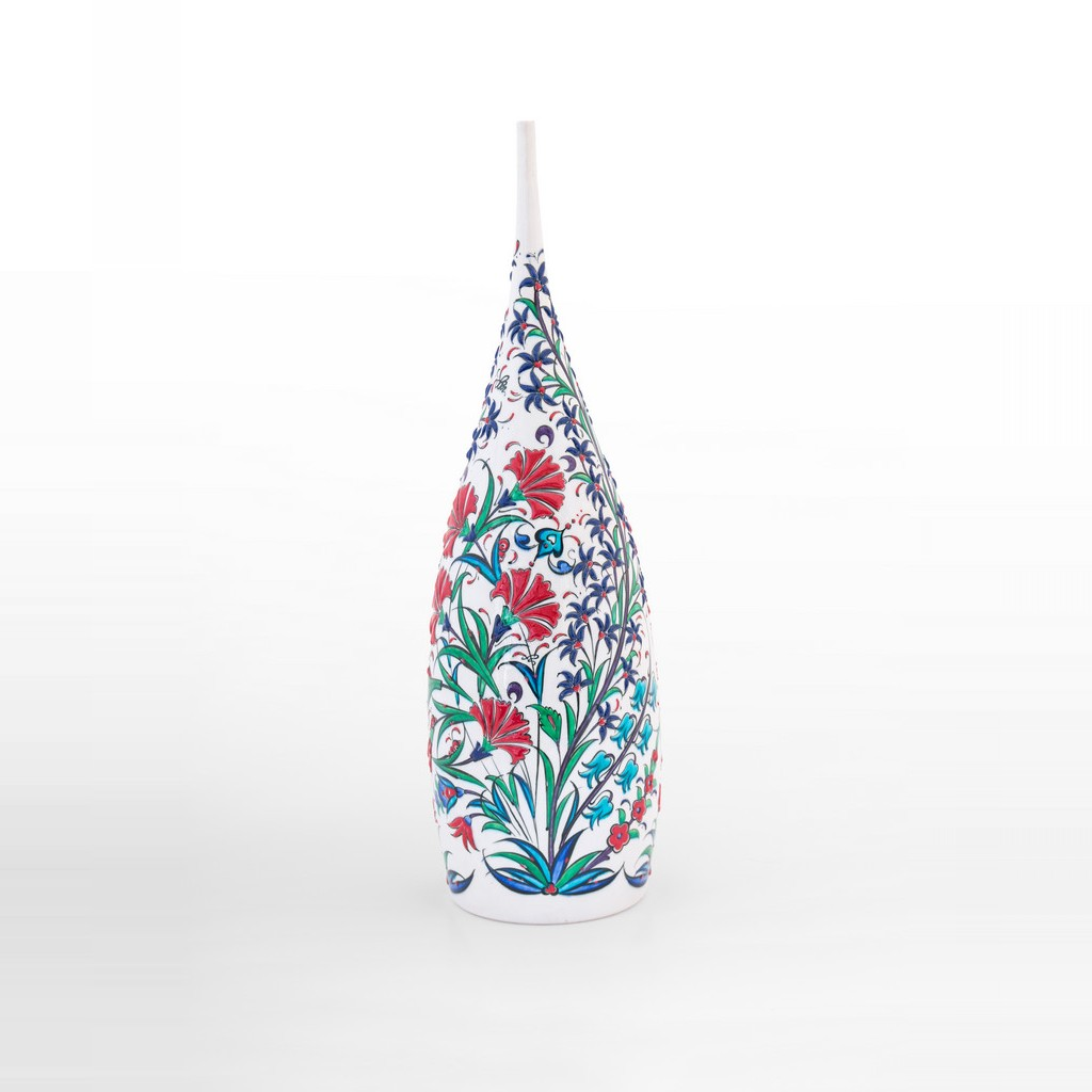 Bottle with flowers and leaves ;40;15 - ARTIST Saim Kolhan