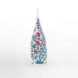 DECORATIVE ITEM & OBJECTS Bottle with flowers and leaves ;40;15