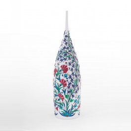 DECORATIVE ITEM & OBJECTS Bottle with flowers and leaves ;52;15