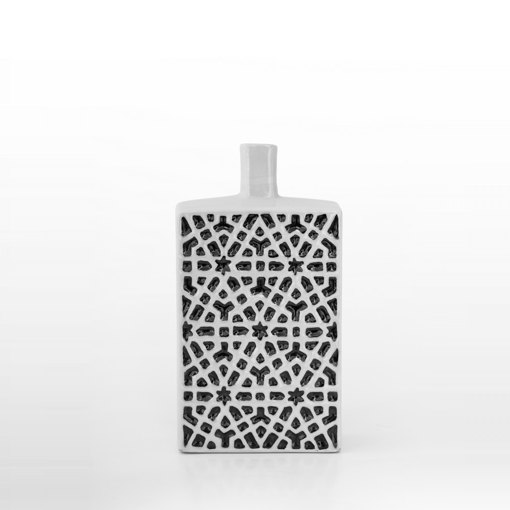 Bottle with geometric pattern ;30;15 - CONTEMPORARY