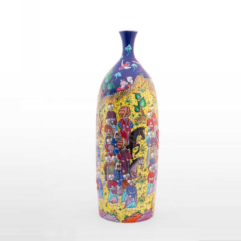 Bottle with miniature ;60;24 - ARTIST Saim Kolhan