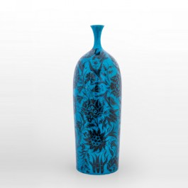 DECORATIVE ITEM & OBJECTS Bottle with saz leaves and floral pattern ;60;24