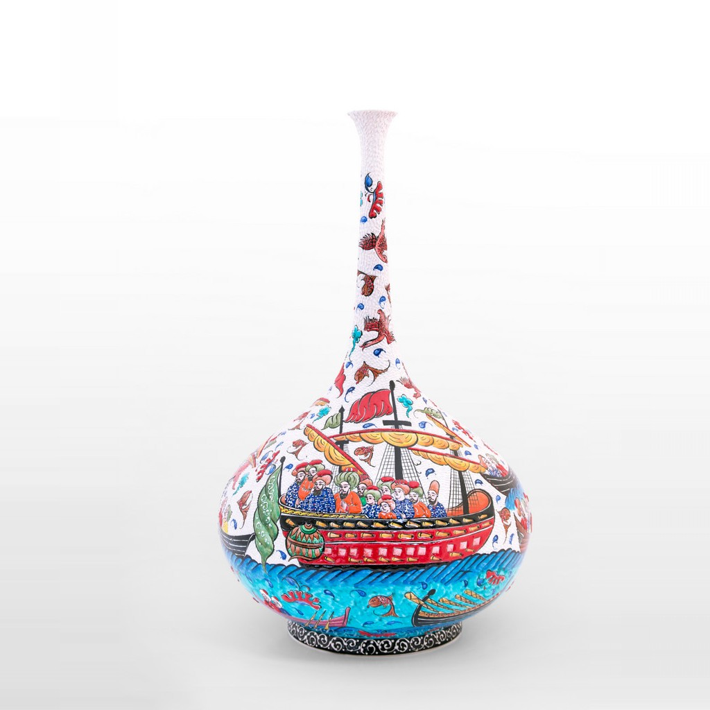 Bottle with sea miniature ;60;35 - ARTIST Saim Kolhan