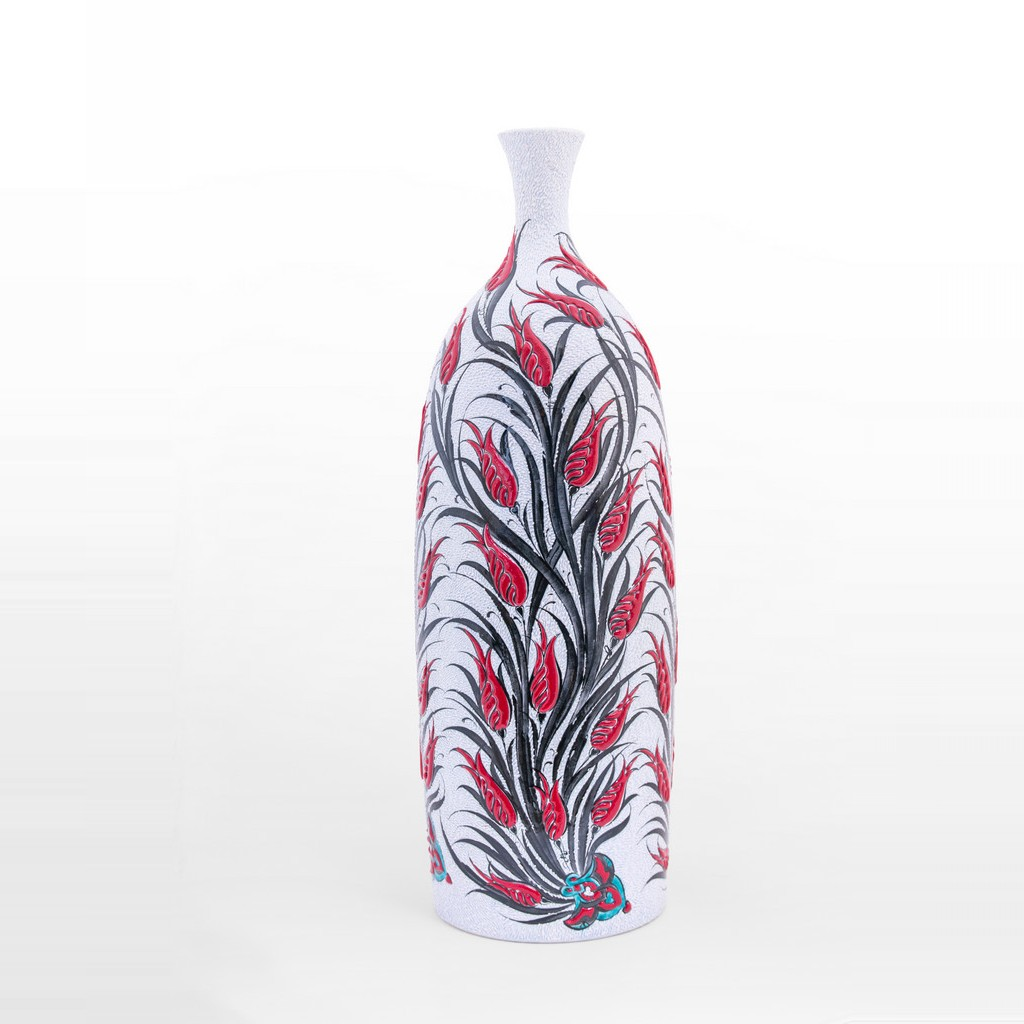 Bottle with tulips in contemporary style ;60;24 - ARTIST Saim Kolhan