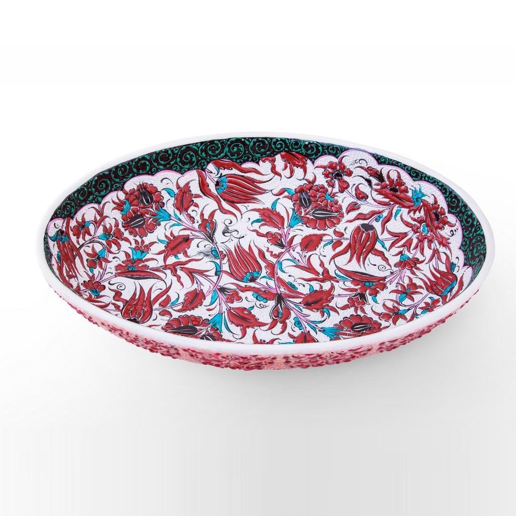 Bowl leaves and floral pattern ;11;49 - BOWL