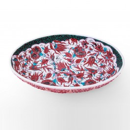 FLORAL Bowl leaves and floral pattern ;11;49
