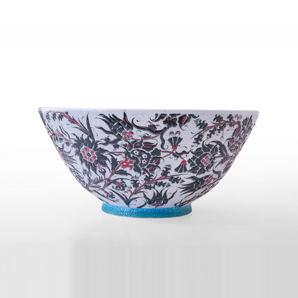 Bowl leaves and floral pattern ;26;54 - BOWL