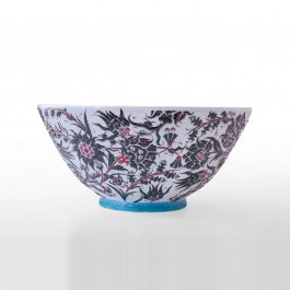FLORAL Bowl leaves and floral pattern ;26;54