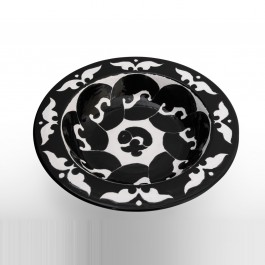 CONTEMPORARY Bowl with abstract geometrical pattern ;10;27