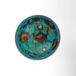 Bowl with artichoke and floral pattern ;14;28 - FLORAL  $i