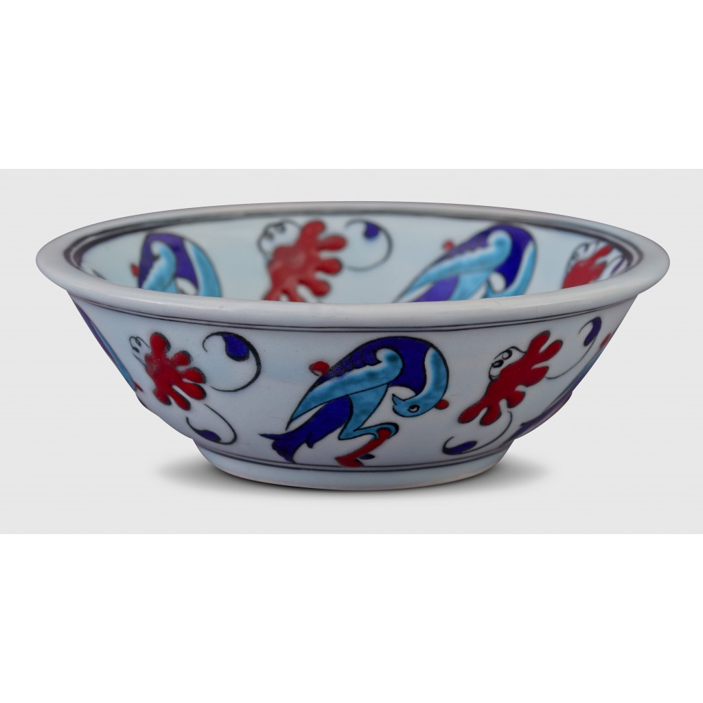 Bowl with birds ;6;17;;; - MINIATURE