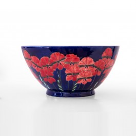 FLORAL Bowl with birds inside and flowers outside in contemporary style  ;18;38
