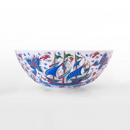 BOWL Bowl with boat figures ;20;52