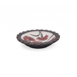 Bowl with carnation flowers in contemporary style ;; - FLORAL  $i
