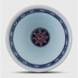 Bowl with carnation pattern ;11;18;;; - BOWL  $i