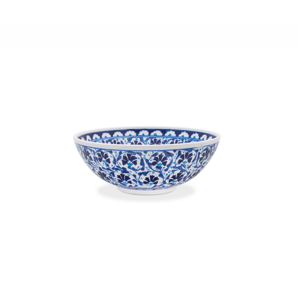 Bowl with central carnation flower pattern ;; - BOWL
