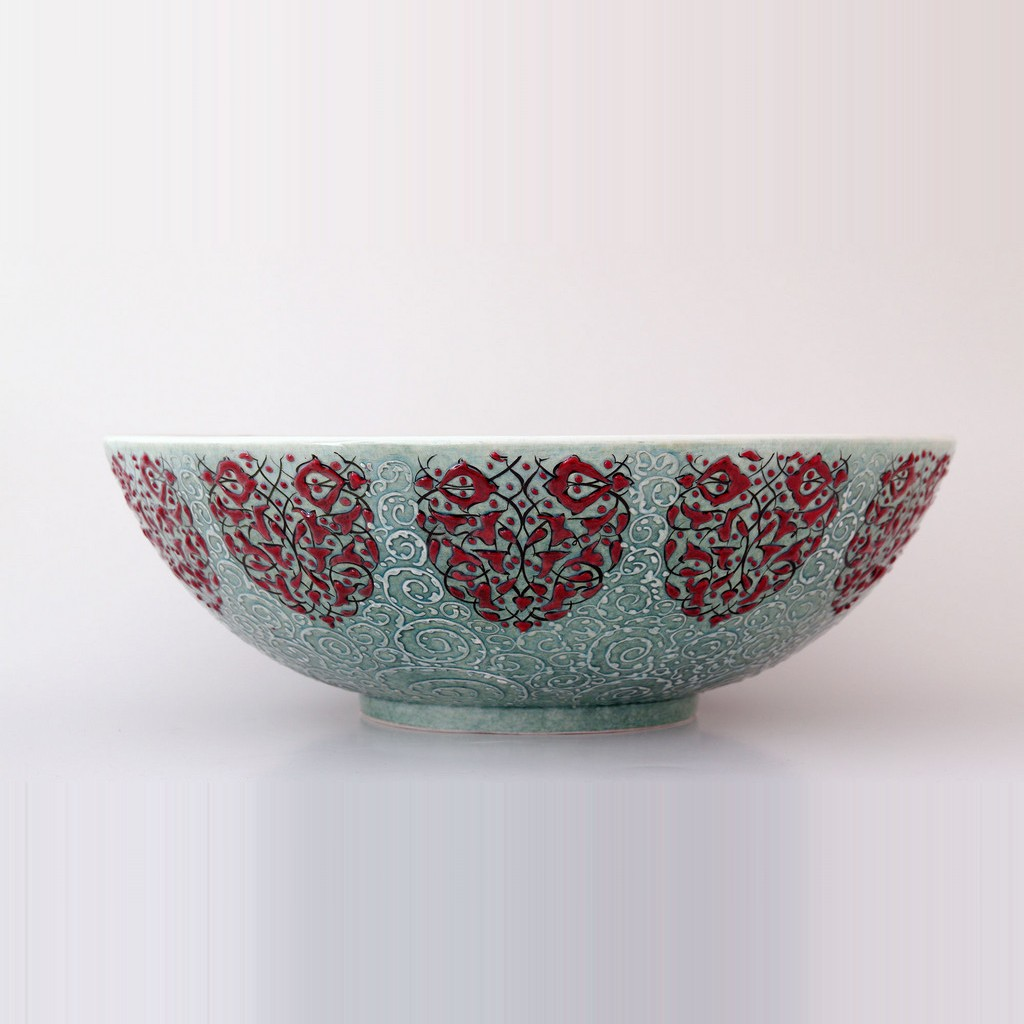 Bowl with chain rumi pattern ;14;40;;; - DECORATIVE ITEM & OBJECTS