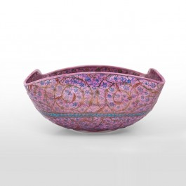ARTIST Saim Kolhan Bowl with contemporary tugrakesh pattern ;18;35