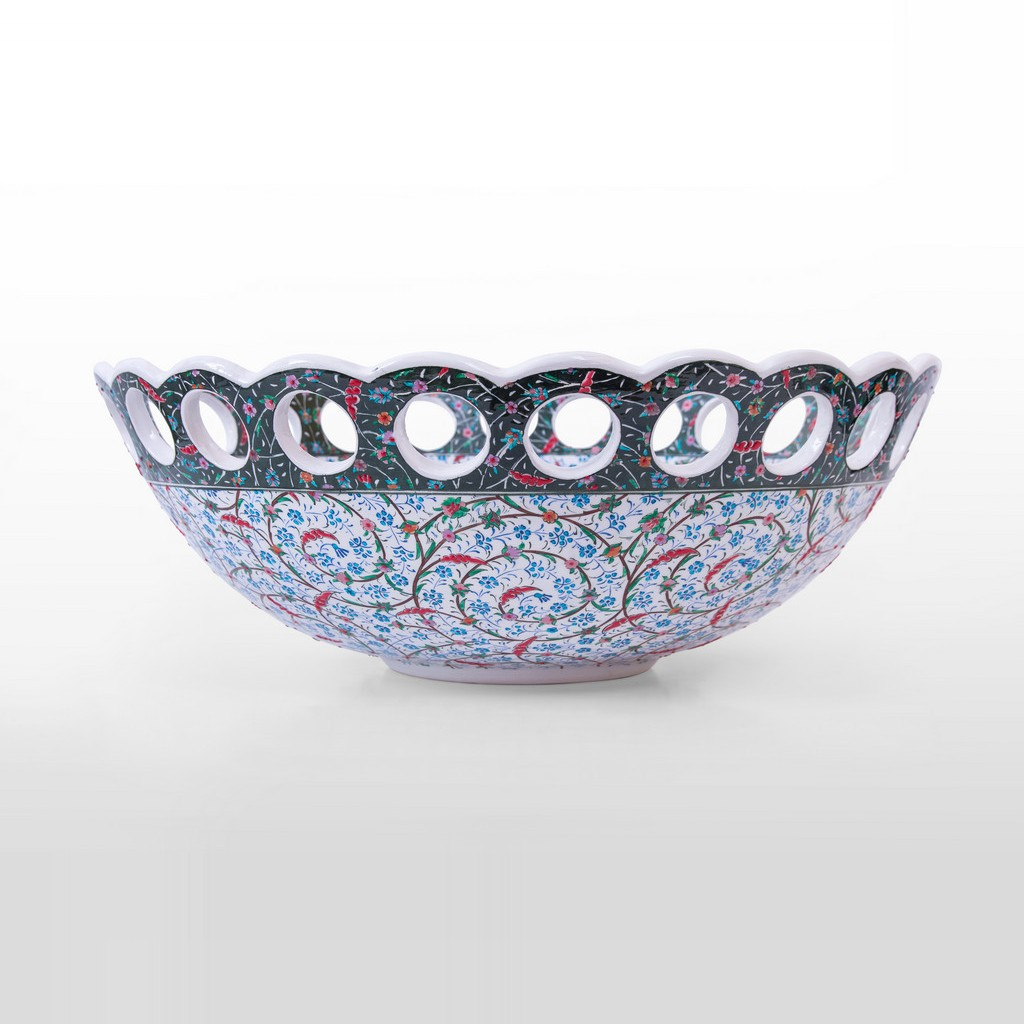 Bowl with contemporary tugrakesh pattern ;20;52 - ARTIST Saim Kolhan