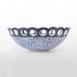 ARTIST Saim Kolhan Bowl with contemporary tugrakesh pattern ;20;52