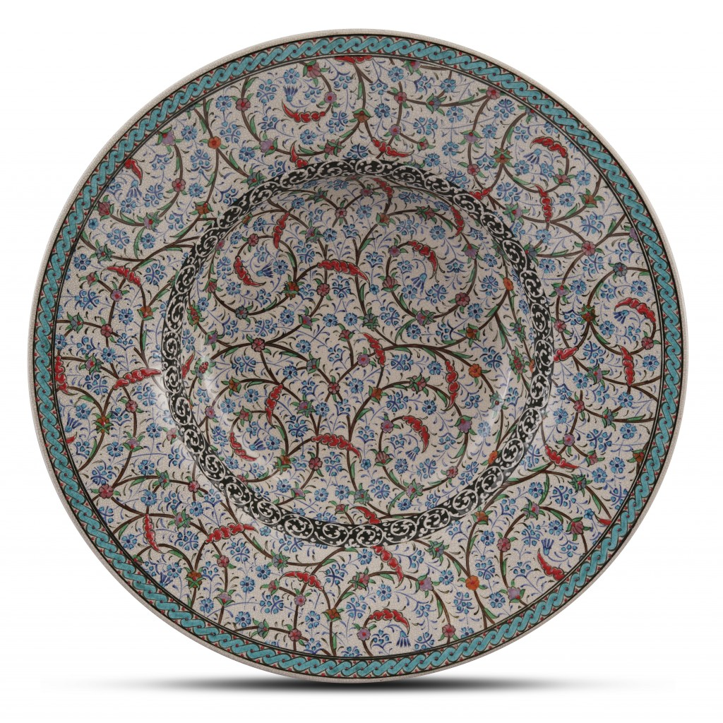 Bowl with floral pattern ;10;40;;; - BOWL