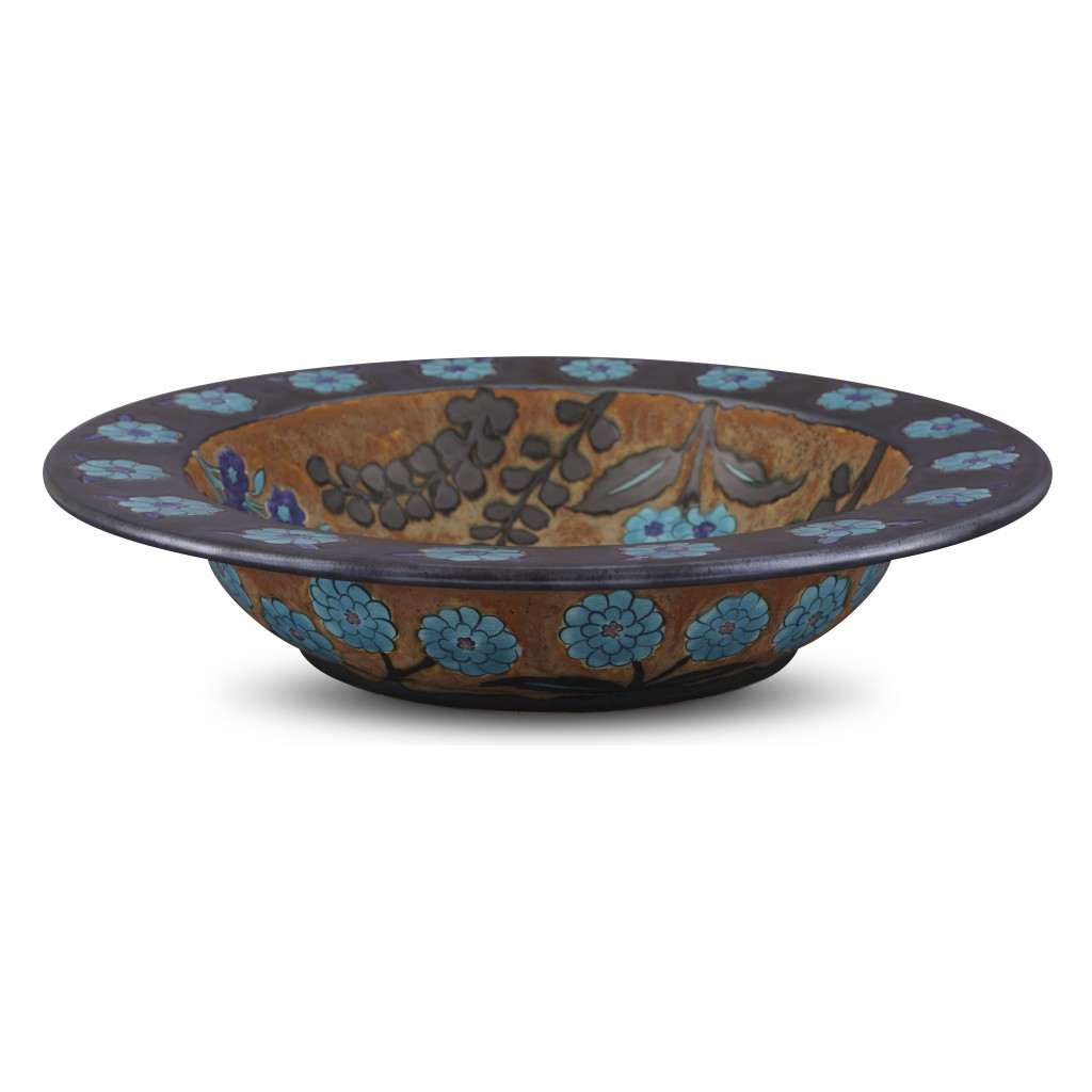 Bowl with floral pattern ;10;47;;; - ARTIST Günhan Bozkurt