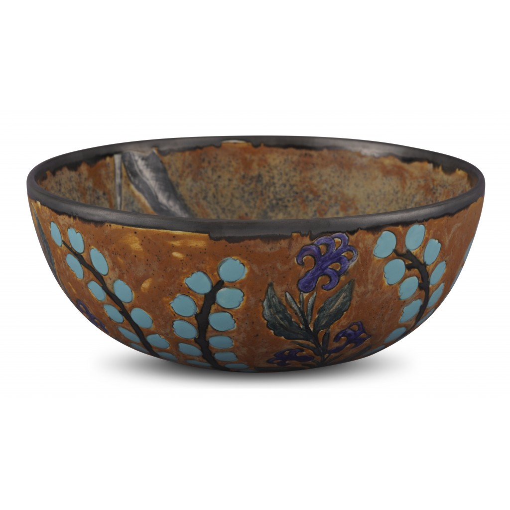 Bowl with floral pattern ;11;29;;; - ARTIST Günhan Bozkurt