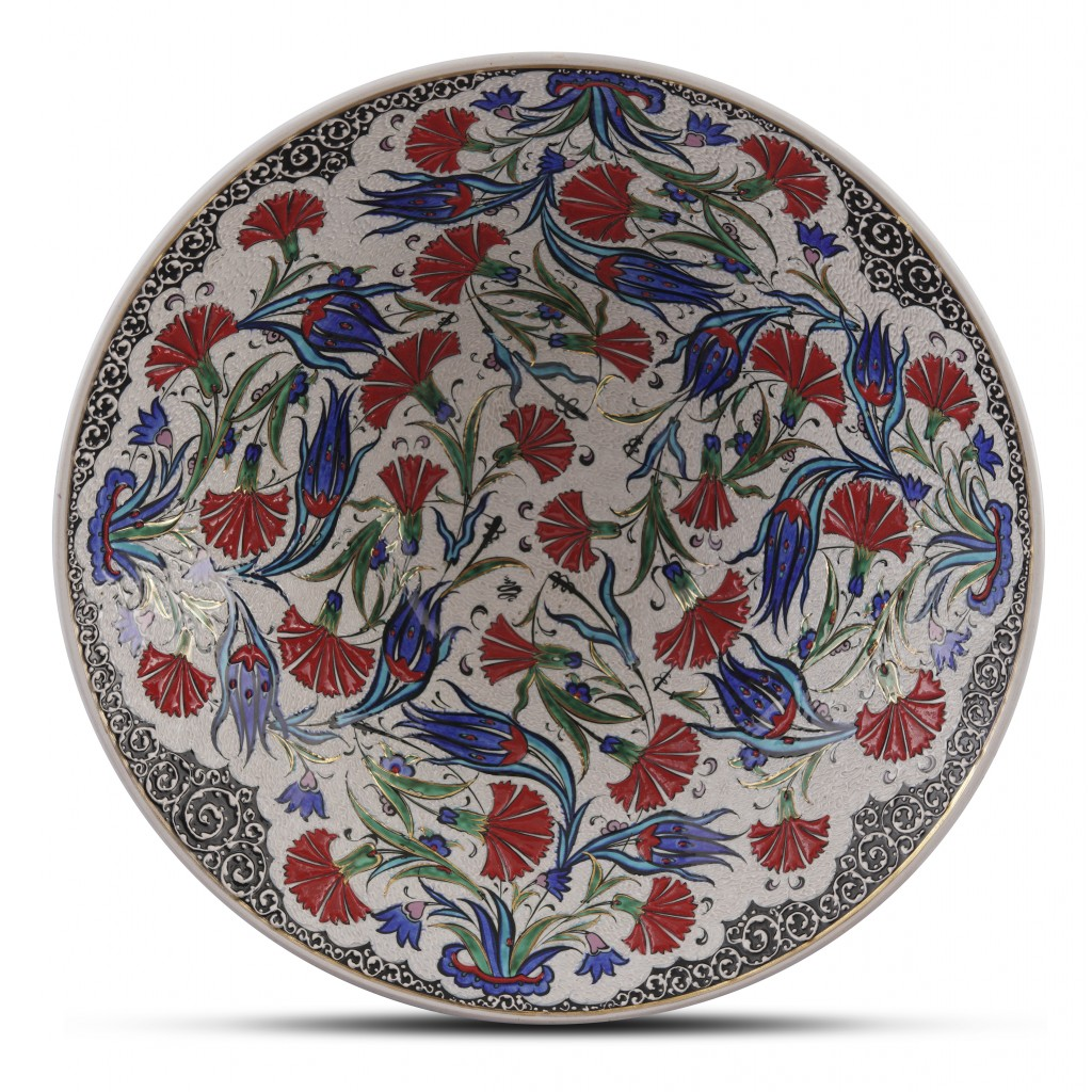 Bowl with floral pattern ;15;42;;; - BOWL