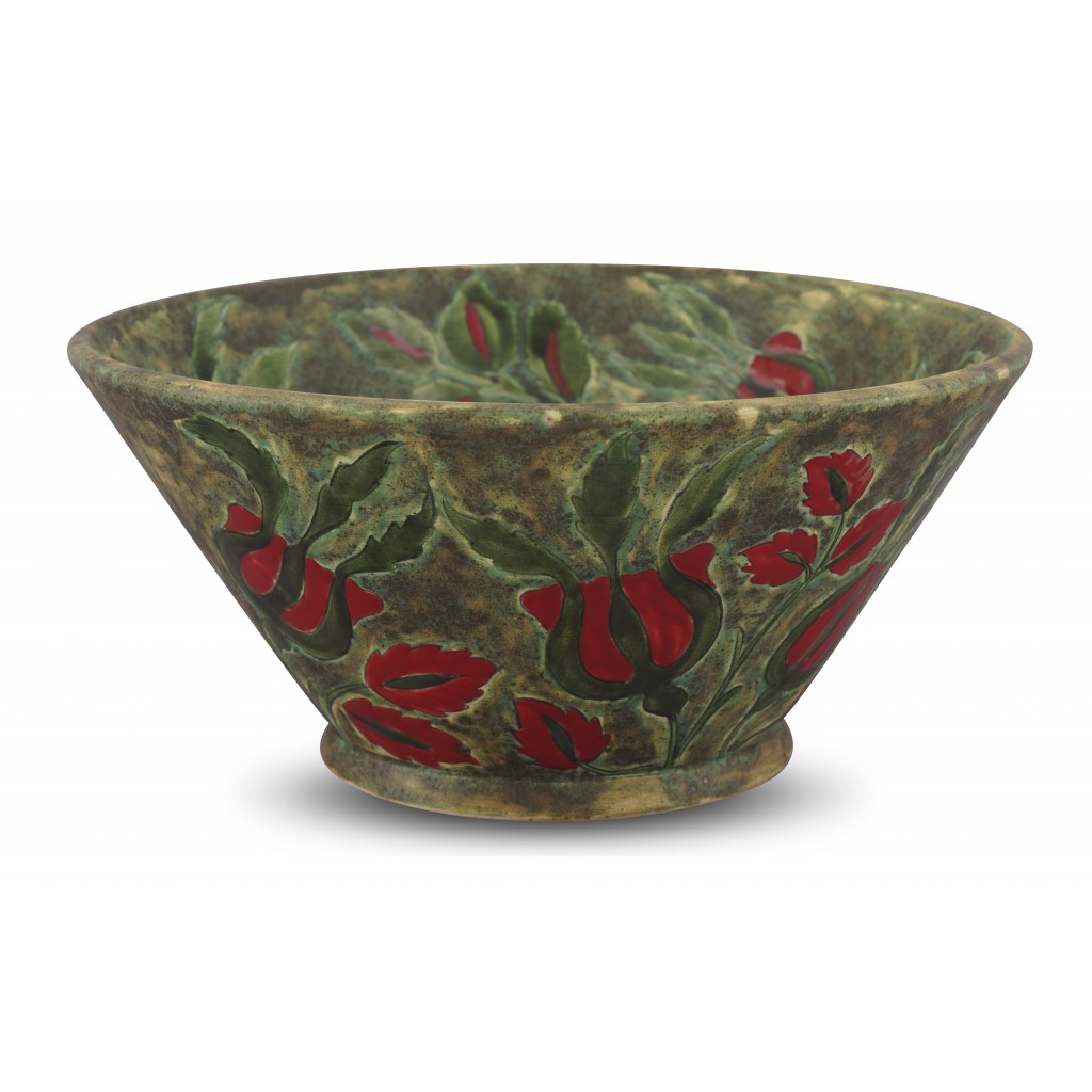 Bowl with floral pattern ;16;33;;; - CONTEMPORARY