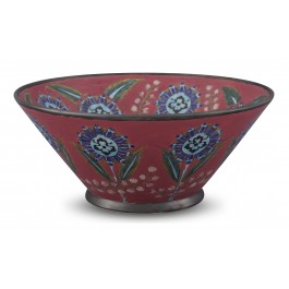 CONTEMPORARY Bowl with floral pattern ;18;40;;;