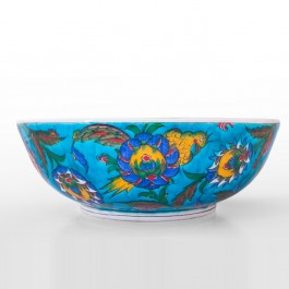 FLORAL Bowl with floral pattern and bird figures ;11;31