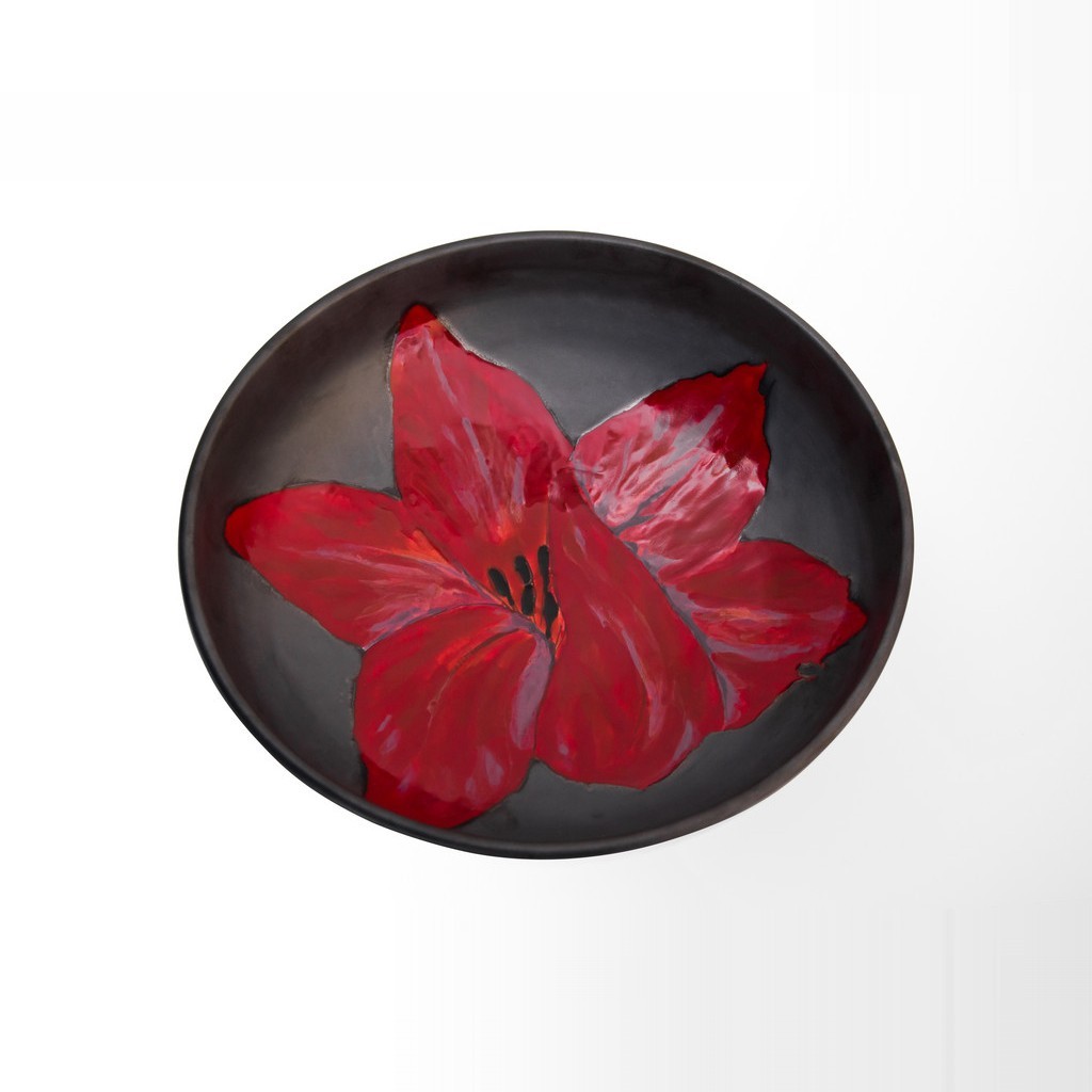 Bowl with flower ;11;35;;; - BOWL