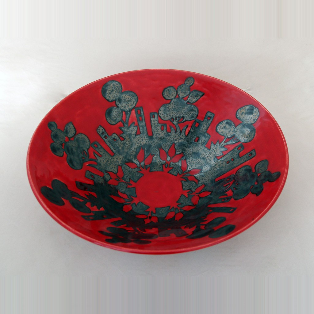 Bowl with geometrical floral pattern in contemporary style ;14;39 - BOWL