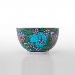 FLORAL Bowl with leaves and floral pattern ;7;12