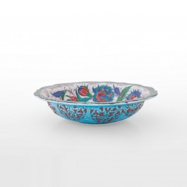 Bowl with leaves and flowers inside ;8;30 - BOWL  $i