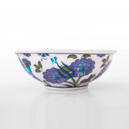 FLORAL Bowl with leaves and flowers pattern ;6;17