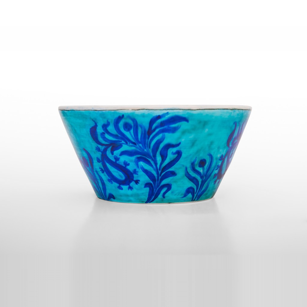 Bowl with leaves pattern in contemporary style ;; - BOWL