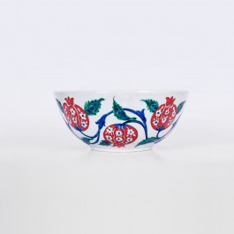 FLORAL Bowl with pomegranates ;9;22