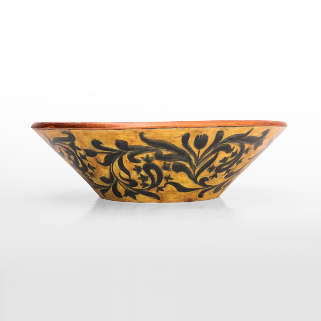 Bowl with pomegranates inside in contemporary style ;10;32 - FLORAL
