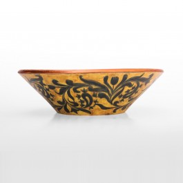 FLORAL Bowl with pomegranates inside in contemporary style ;10;32
